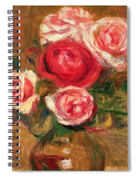 Roses In A Pot Spiral Notebook