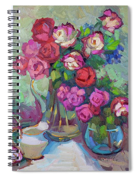 Roses In Two Vases Spiral Notebook