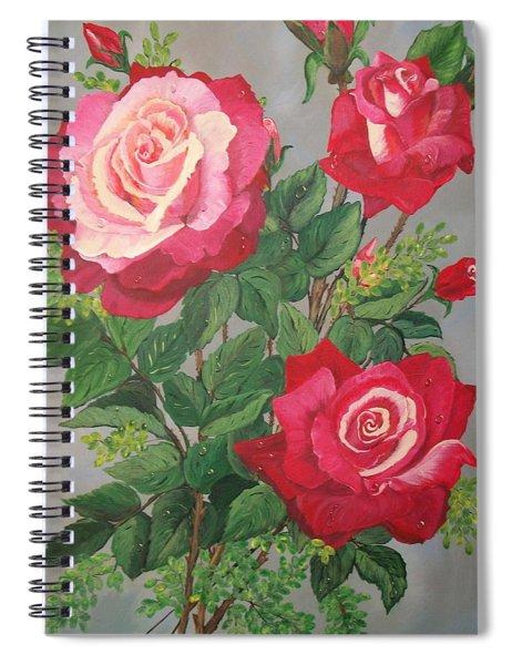 Roses N' Rain Spiral Notebook