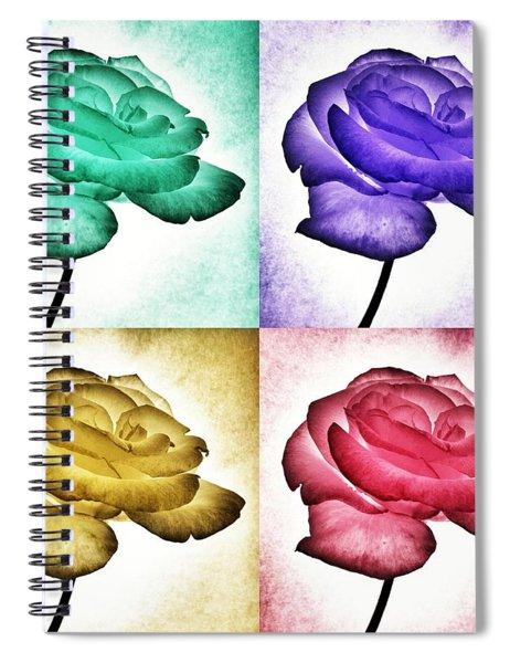 Roses - Pop Art Spiral Notebook