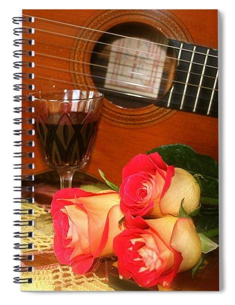 Guitar 'n Roses Spiral Notebook