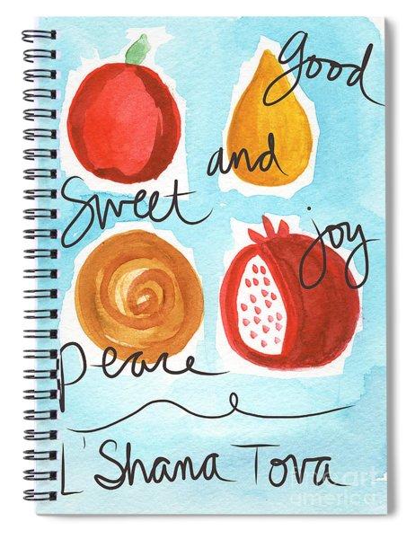 Rosh Hashanah Blessings Spiral Notebook