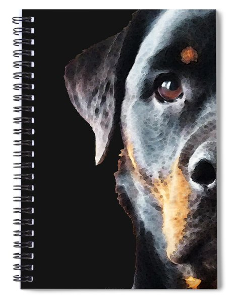 Rottie Love - Rottweiler Art By Sharon Cummings Spiral Notebook
