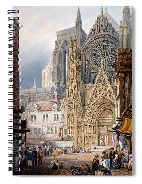Rouen Cathedral Spiral Notebook