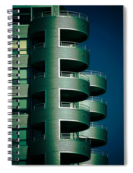 Round And Round Up And Down Spiral Notebook