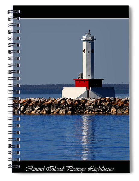 Round Island Passage Lighthouse Spiral Notebook