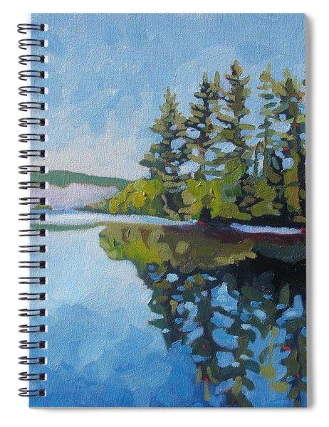 Round Lake Mirror Spiral Notebook