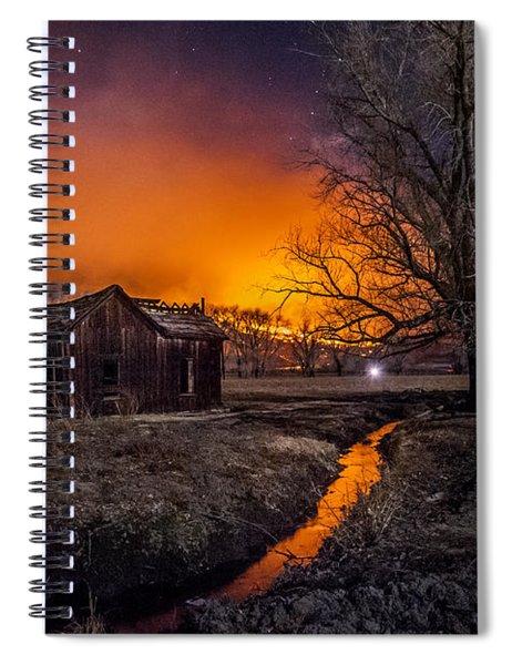 Round Fire Spiral Notebook