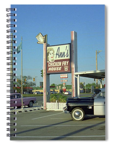Route 66 - Anns Chicken Fry House Spiral Notebook