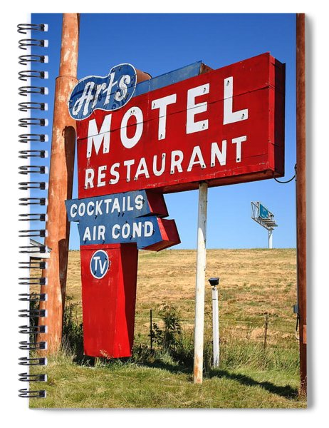 Route 66 - Art's Motel Spiral Notebook