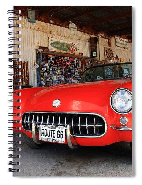 Route 66 Corvette Spiral Notebook