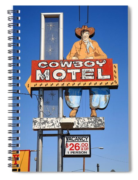Route 66 - Cowboy Motel Spiral Notebook