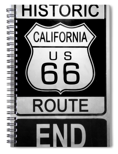 Route 66 End Spiral Notebook