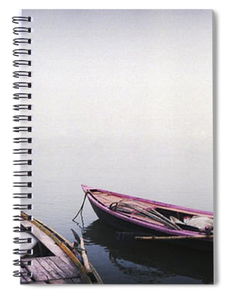 Row Boats In A River, Ganges River Spiral Notebook