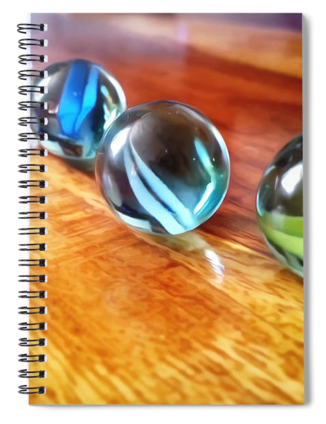 Row Of Marbles Spiral Notebook