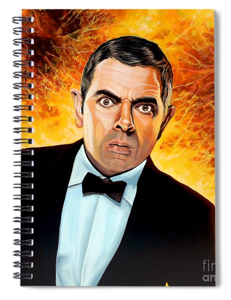Rowan Atkinson Alias Johnny English Spiral Notebook