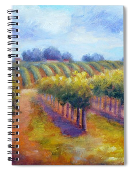 Rows Of Vines Spiral Notebook