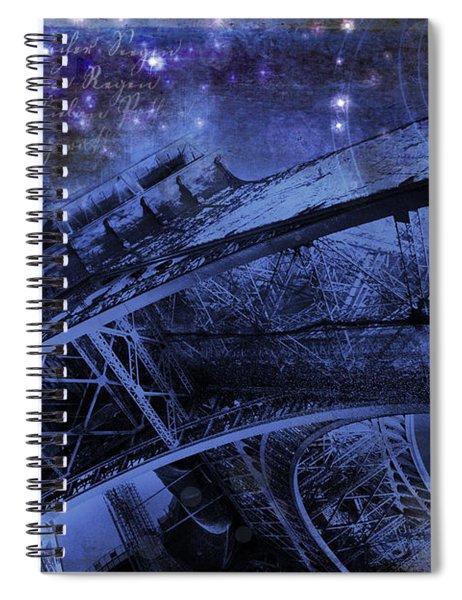 Royal Eiffel Tower Spiral Notebook