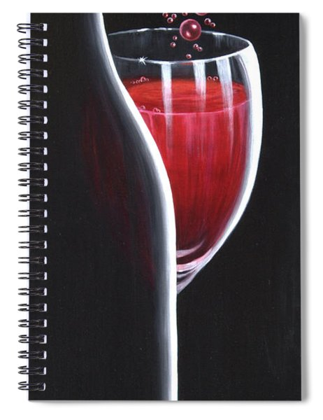 R.s.v.p. Requested Spiral Notebook by Sandi Whetzel