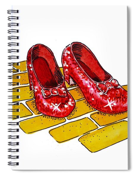 Ruby Slippers The Wizard Of Oz  Spiral Notebook