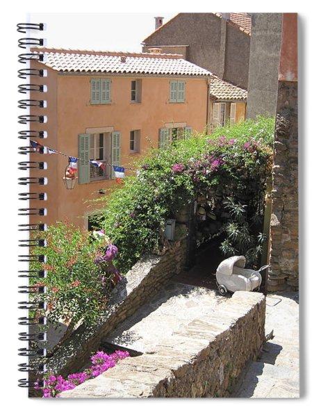 Rue De La Rose Spiral Notebook