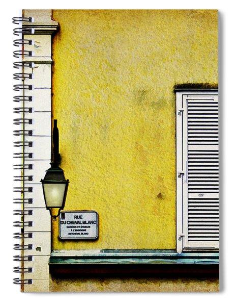 Rue Du Cheval Blanc Spiral Notebook