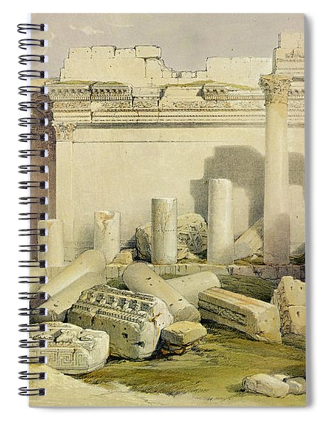 Ruins Of The Eastern Portico Spiral Notebook