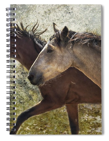 Running Free - Pryor Mustangs Spiral Notebook
