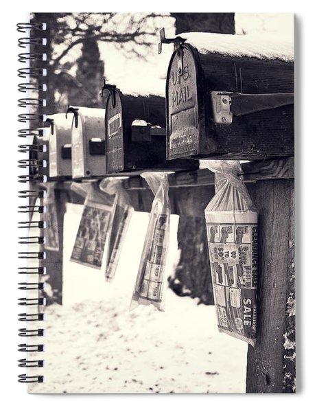 Rural Mailboxes Spiral Notebook