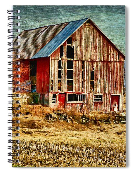Rural Rustic Vermont Scene Spiral Notebook