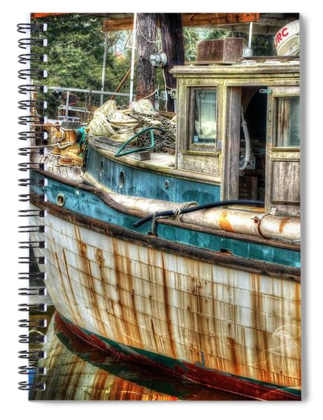 Rusted Wood Spiral Notebook
