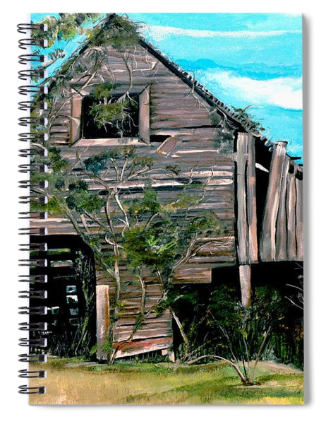 Spiral Notebook featuring the painting Rustic Barn - Mooresburg - Tennessee by Jan Dappen