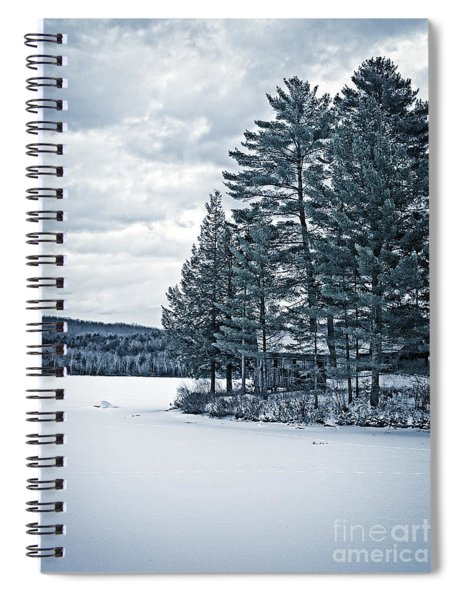 Rustic Cabin On The Pond Spiral Notebook