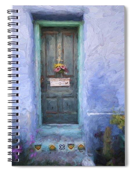 Rustic Door In Tucson Barrio Painterly Effect Spiral Notebook