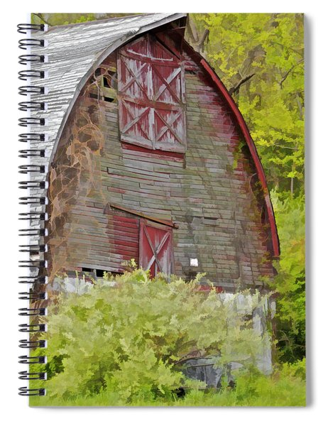 Rustic Red Barn II Spiral Notebook