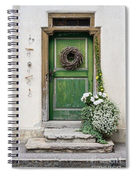 Rustic Wooden Village Door - Austria Spiral Notebook