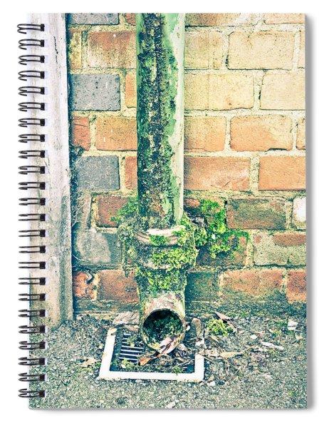 Rusty Drainpipe Spiral Notebook