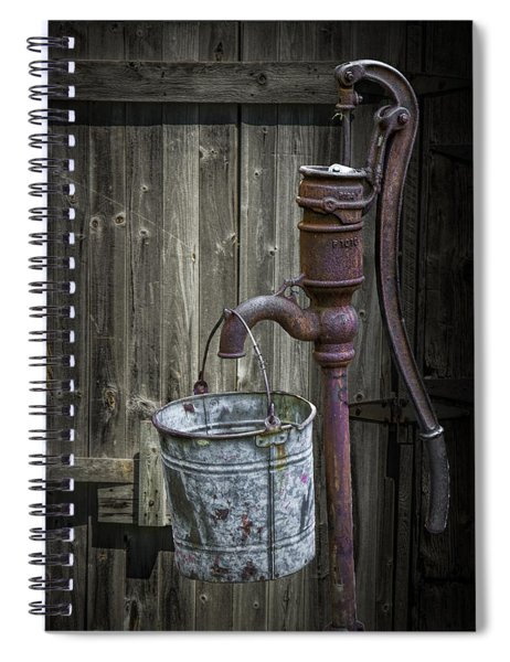 Rusty Hand Water Pump Spiral Notebook