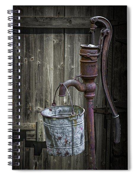 Rusty Hand Water Pump Spiral Notebook