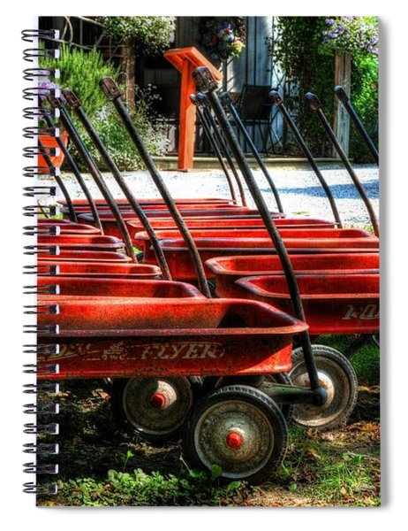 Spiral Notebook featuring the photograph Rusty Old Wagons by Mel Steinhauer