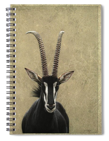 Spiral Notebook featuring the painting Sable by James W Johnson