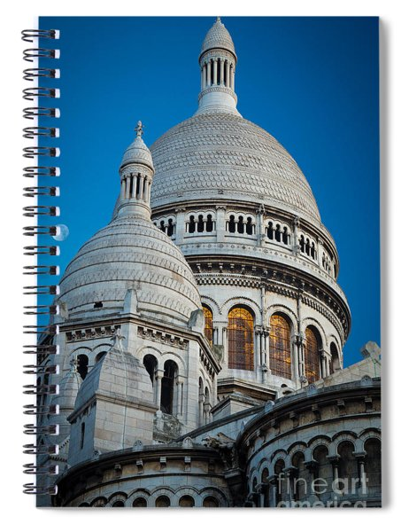 Sacre-coeur And Moon Spiral Notebook