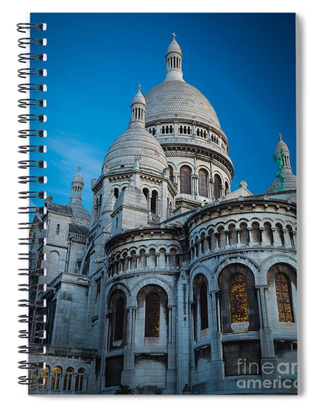 Sacre-coeur At Night Spiral Notebook