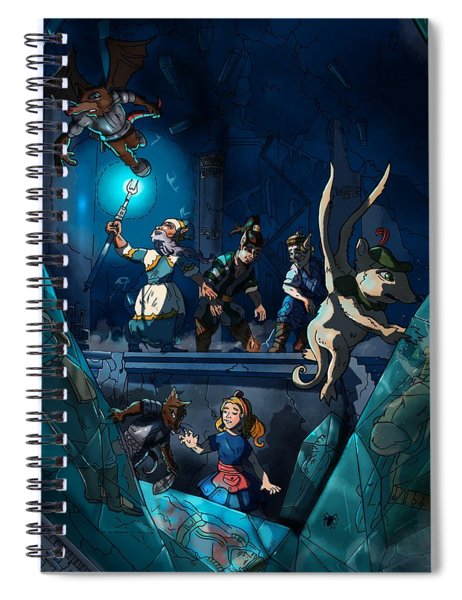 Sacred Burial Chamber Spiral Notebook