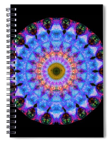 Sacred Crown - Mandala Art By Sharon Cummings Spiral Notebook by Sharon Cummings
