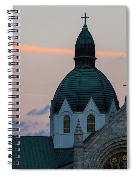 Spiral Notebook featuring the photograph Sacred Heart At Sundown by Ed Gleichman
