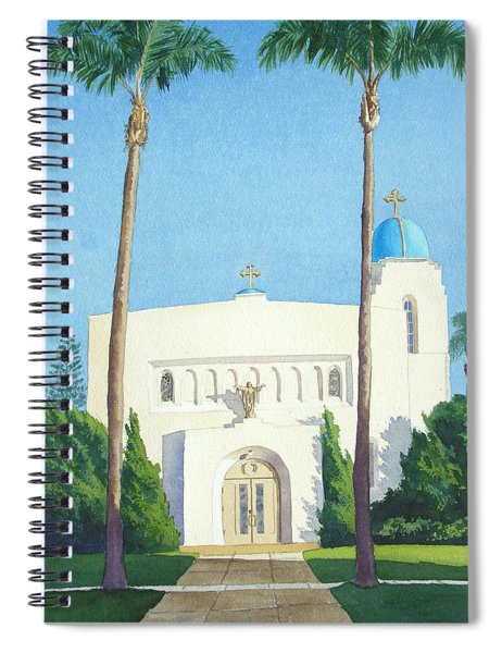 Sacred Heart Church Coronado Spiral Notebook