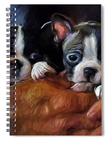 Safe In The Arms Of Love - Puppy Art Spiral Notebook
