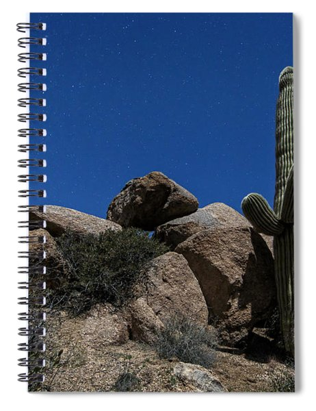 Saguaro By Moonlight Spiral Notebook