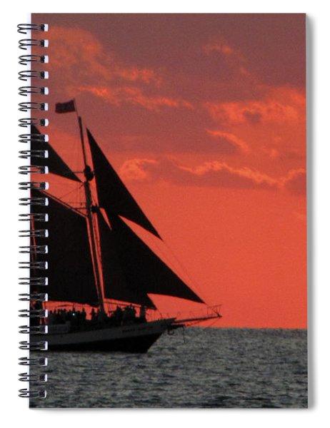 Key West Sunset Sail 5 Spiral Notebook